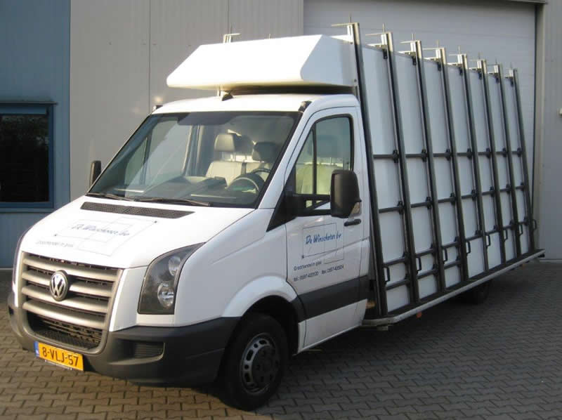 VW Crafter met glasresteel